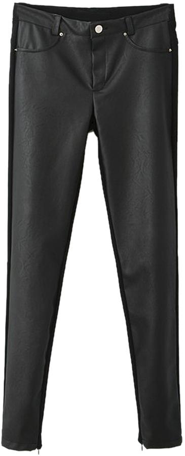 Choies Leather Look Skinny Leggings