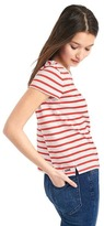 Gap Stripe crewneck pocket tee