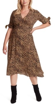 Jessica Simpson Trendy Plus Size Printed A-Line Dress