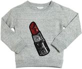 Little Marc Jacobs Sequined Lipstick Sweatshirt