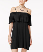 Ultra Flirt Juniors' Cold-Shoulder Shift Dress