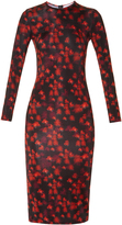 Givenchy Floral-print long-sleeved jersey dress