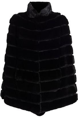 The Fur Salon Zac Posen For Sectioned Mink Fur Cape