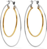 Alexander McQueen Gold And Silver-tone Hoop Earrings - One size