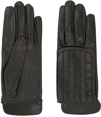 Chanel Pre Owned Quilted Leather Gloves