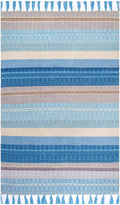 nuLoom Light Blue Stripe Woven Rug