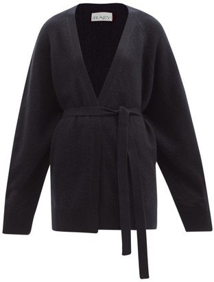 Raey Shawl Belted Cashmere Cardigan - Womens - Navy
