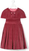 Patachou cape pleated dress