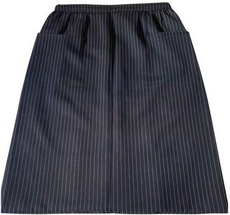 Loewe Navy Wool Skirt for Women Vintage