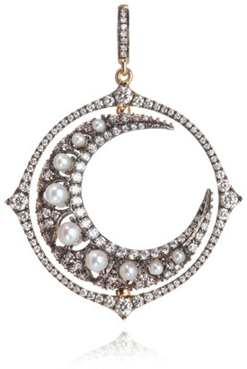Annoushka Mythology White Gold, Pearl and Diamond Pearl Moon Pendant