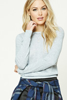 Forever 21 FOREVER 21+ Contemporary Heathered Sweater