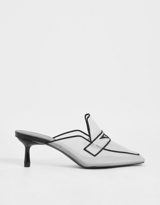 Charles & Keith Mesh Loafer Mules