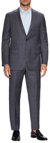Hickey Freeman Wool Glen Plaid Notch Lapel Suit