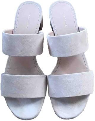 Mansur Gavriel Pink Suede Sandals