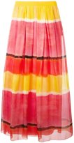 Alberta Ferretti colour block long skirt