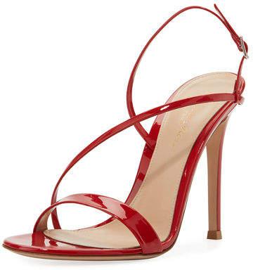 Gianvito Rossi Manhattan Strappy Patent 105mm Sandal