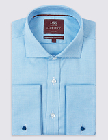 M&s Collection Luxury Pure Cotton Non-Iron Tailored Fit Shirt