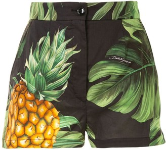 Dolce & Gabbana Cotton Pineapple Print Shorts
