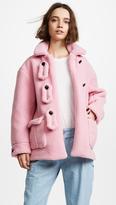 Olympia Le-Tan Alicia Teddy Bear Coat