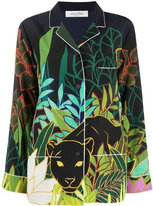 Valentino Mirrored Orchid Ramage print shirt