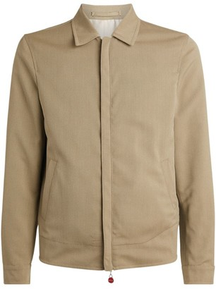 Kiton Wool-Cotton Twill Jacket