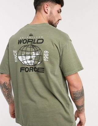Quiksilver Global Groove t-shirt in khaki