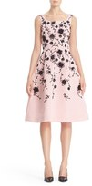 Oscar de la Renta Women's Floral Embroidered Silk Cocktail Dress