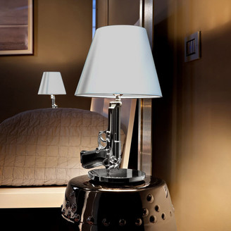 Flos Chrome Bedside Table Gun Lamp