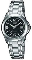 Casio LTP-1259PD-1A - Classic - Women's Analogue Quartz Watch - Black Dial - Grey Steel Strap