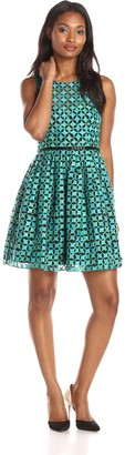 Minuet Women's Embroidered Eyelet Skater Dress