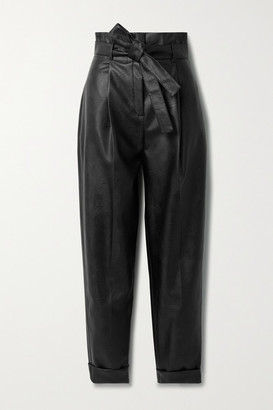 Philosophy di Lorenzo Serafini Belted Vegan Leather Tapered Pants