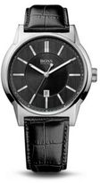 Hugo Boss 1512911 Black Crocodile Embossed Leather Strap Quartz Watch One Size Assorted-Pre-Pack