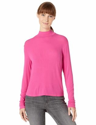 Splendid Women's 2x1 Long Sleeve Mock Neck Tee T-Shirt