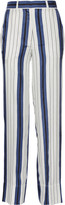 Protagonist Striped silk-twill wide-leg pants