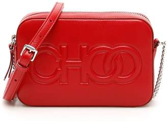 Jimmy Choo Balti Embossed Logo Crossbody Bag