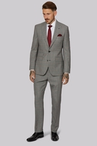 Moss Bros Tailored Fit Balck & White with Red Check Suit