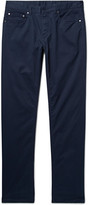 Michael Kors - Slim-fit Brushed Stretch-cotton Twill Trousers
