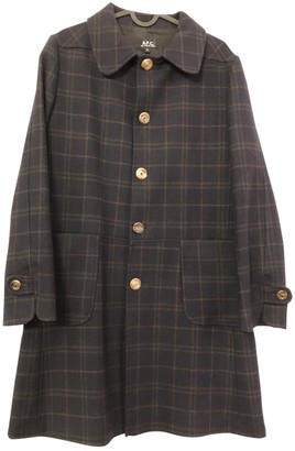 A.P.C. Navy Wool Coat for Women