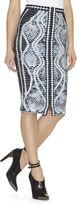 Herve Leger Tempes Crochet-Jacquard Skirt