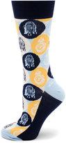 Cufflinks Inc. Star Wars R2D2 & BB8 Droid Pop Art Socks
