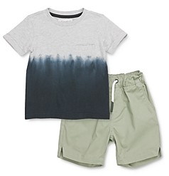 Sovereign Code Boys' Segundo Dip-Dyed Pocket Tee & Gateway Jogger Shorts Set - Baby