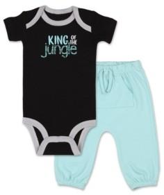 The Peanut Shell The Baby Boy Safari Story King of Jungle Shirt and Pant Set