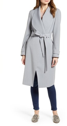 Kenneth Cole New York Drape Collar Wrap Coat