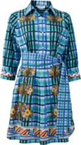 Peter Pilotto Checkered Print Shirt Dress