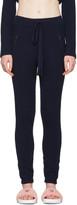 Baja East Navy Cashmere Ribbed Lounge Pants