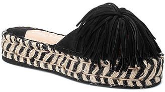 J/Slides Women's Sandals BLACK - Black Pom Pom Ruby Leather Slide - Women