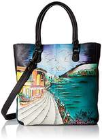 Anuschka Handpainted Leather Multi Compartment Shopper Moonlight Capri