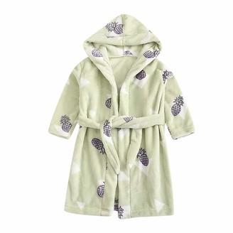 Sunnymi Clothing sunnymi 1-6 Years Toddler Baby Boys Girls Cartoon Bathrobes Flannel Night-Robe Sleepwear