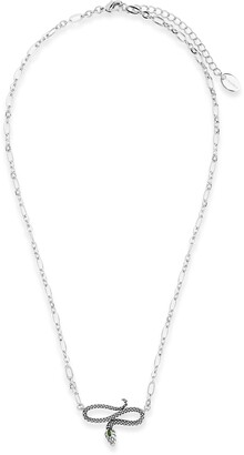 Sterling Forever Snake Pendant Necklace
