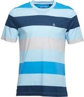Original Penguin Mens Stripe T-Shirt Crystal Blue